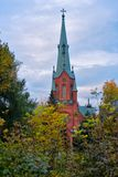 亚历山大教会在坦佩雷 免版税库存图片