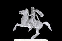亚历山大极大的雕象塞萨罗尼基 图库摄影