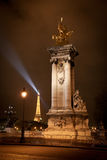 亚历山大桥梁法国iii巴黎 库存照片