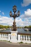 亚历山大桥梁III在巴黎 图库摄影