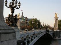 亚历山大桥梁iii巴黎 免版税库存图片
