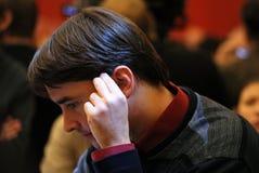 亚历山大棋高段棋手morozevich俄语 免版税库存照片