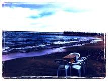 亚历山大海滩 库存图片