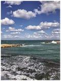 亚历山大海滩 免版税图库摄影