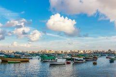 亚历山大港口看法  免版税图库摄影
