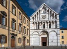 亚历山大的圣徒凯瑟琳14世纪教会在比萨,它 免版税库存图片