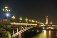 亚历山大的桥梁III,巴黎 图库摄影