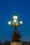 亚历山大的桥梁III,巴黎 库存照片