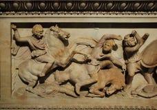 亚历山大的石棺 免版税图库摄影