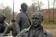 亚历山大的雕刻的构成建筑师停放 免版税库存照片