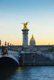 亚历山大第三座桥梁,巴黎 免版税图库摄影