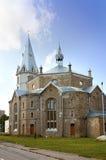 亚历山大路德教会在纳尔瓦,爱沙尼亚 免版税库存图片