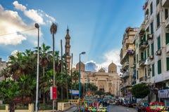 亚历山大,埃及看法  图库摄影