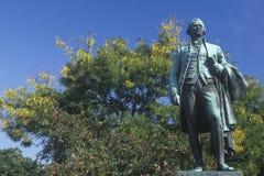 亚历山大・汉密尔顿雕象在佩特森,新泽西 免版税库存照片
