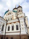 亚历山大・涅夫斯基大教堂,一个正统大教堂在塔林 库存图片