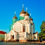 亚历山大・涅夫斯基大教堂,高的一个正统大教堂教会 免版税库存图片