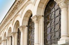 亚历山大・涅夫斯基大教堂,索非亚, Bul的一系列的曲拱 库存图片
