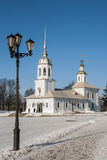 亚历山大・涅夫斯基教会在沃洛格达州。俄罗斯 免版税图库摄影