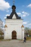 亚历山大・涅夫斯基教堂在Tobolsk,俄罗斯 库存图片