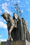 亚历山大・涅夫斯基纪念碑在普斯克夫,俄罗斯 免版税图库摄影