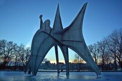 亚历山大・考尔德雕塑L ` Homme 库存照片