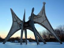 亚历山大・考尔德雕塑L ` Homme 免版税图库摄影