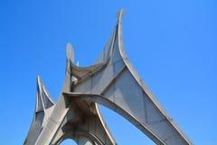 他亚历山大・考尔德雕塑L ` Homme 免版税库存图片