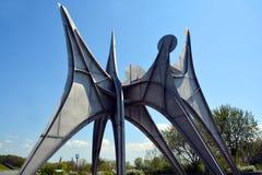 亚历山大・考尔德雕塑L ` Homme 免版税库存图片