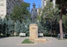 亚历山大・谢尔盖耶维奇・普希金的纪念碑在巴库,阿塞拜疆 库存图片