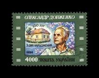 亚历山大Dovzhenko,著名乌克兰制片商, 100th诞生周年,大约1994年, 免版税库存照片