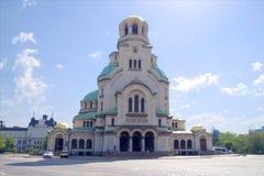 亚历山大Nevski纪念教会索非亚,保加利亚,欧洲 图库摄影