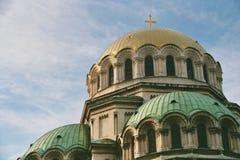 亚历山大nevsky屋顶st 图库摄影