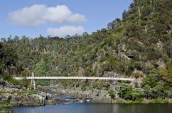 亚历山德拉桥梁, Launcenston,塔斯马尼亚岛 库存图片