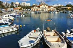 亚历山德鲁波利斯,希腊- 2017年9月23日:亚历山德鲁波利斯、东部马其顿和色雷斯港和镇惊人的看法  图库摄影
