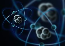 亚原子的微粒 免版税库存照片