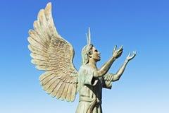 巴亚尔塔港Malecon雕塑 免版税库存图片