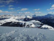 亚尔他Badia手段- Sella朗达-意大利阿尔卑斯- Dolomiti Supers 免版税库存图片