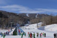 亚布力滑雪旅游度假区 免版税库存照片