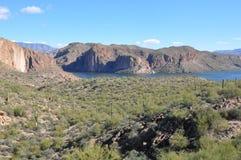 亚帕基印第安人亚利桑那湖 免版税库存图片