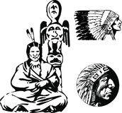 亚帕基印第安人向量 免版税库存照片