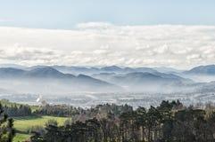 亚平宁山脉的风景,意大利 图库摄影