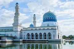 亚庇市清真寺,沙巴,婆罗洲,马来西亚 免版税库存图片