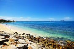 亚庇海滩 免版税库存照片