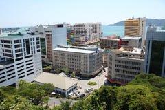 亚庇,沙巴马来西亚- 2018年5月1日:沙巴旅游业委员会办公楼,亚庇沙巴 库存图片