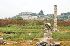 亚底米神庙的废墟 免版税库存照片