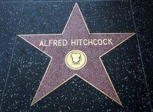 亚弗列・希治阁` s星,好莱坞星光大道- 2017年8月11日, -好莱坞大道,洛杉矶,加利福尼亚,加州 库存照片