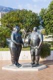 亚当和伊芙雕塑在蒙地卡罗,摩纳哥 免版税图库摄影