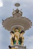 亚当斯喷泉的顶面部分在乌塔卡蒙德 免版税库存照片