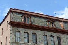 亚当斯皮克林块在街市曼格,缅因 库存图片