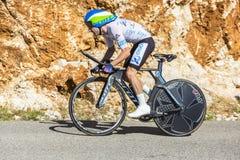亚当耶茨,单独时间试验-环法自行车赛2016年 库存照片